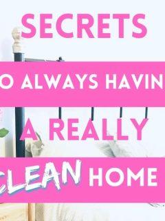 clean bedroom - text overlay