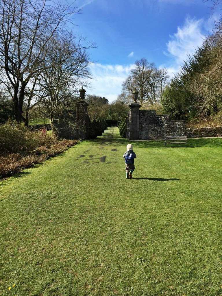 Secret Garden at Sizergh Castle, Lake District Castles, Days out with kids Lake District
