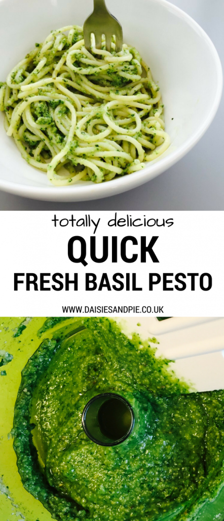 Just the nicest quick fresh basil pesto recipe, easy midweek dinner ideas