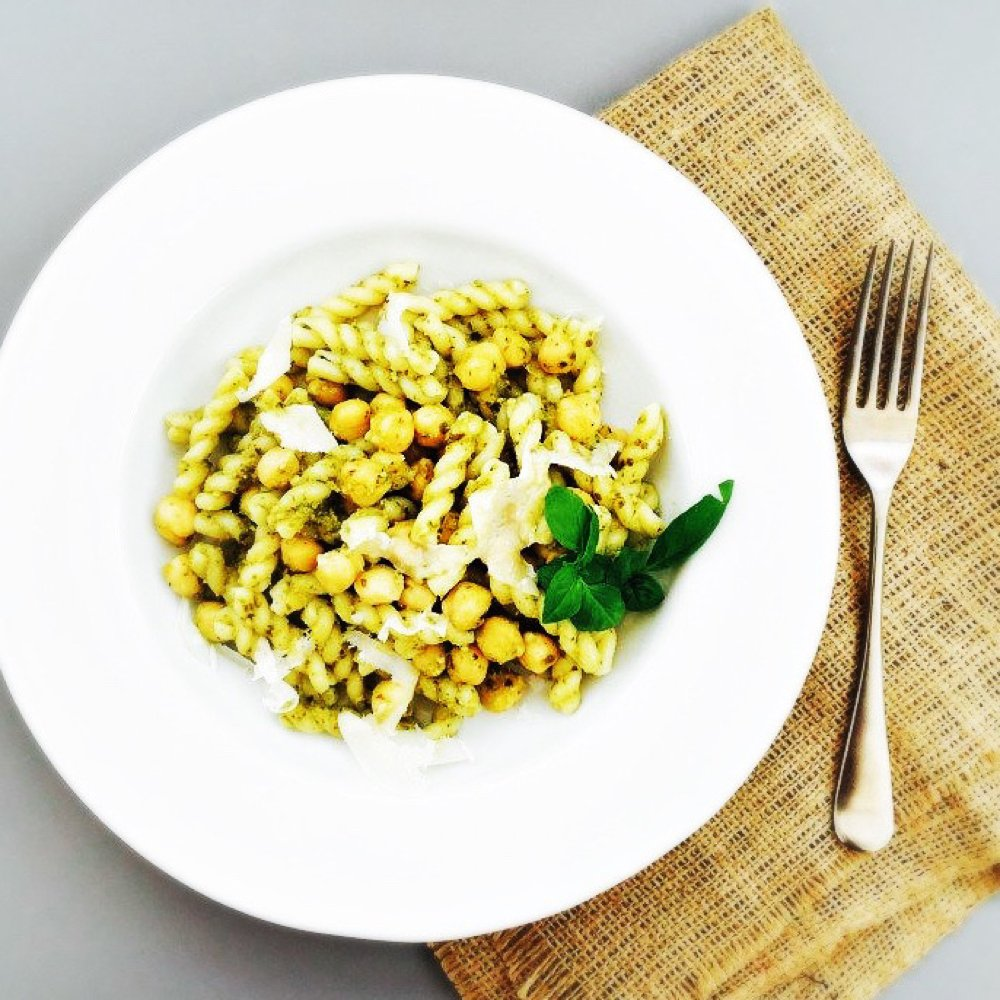 pasta with chickpeas