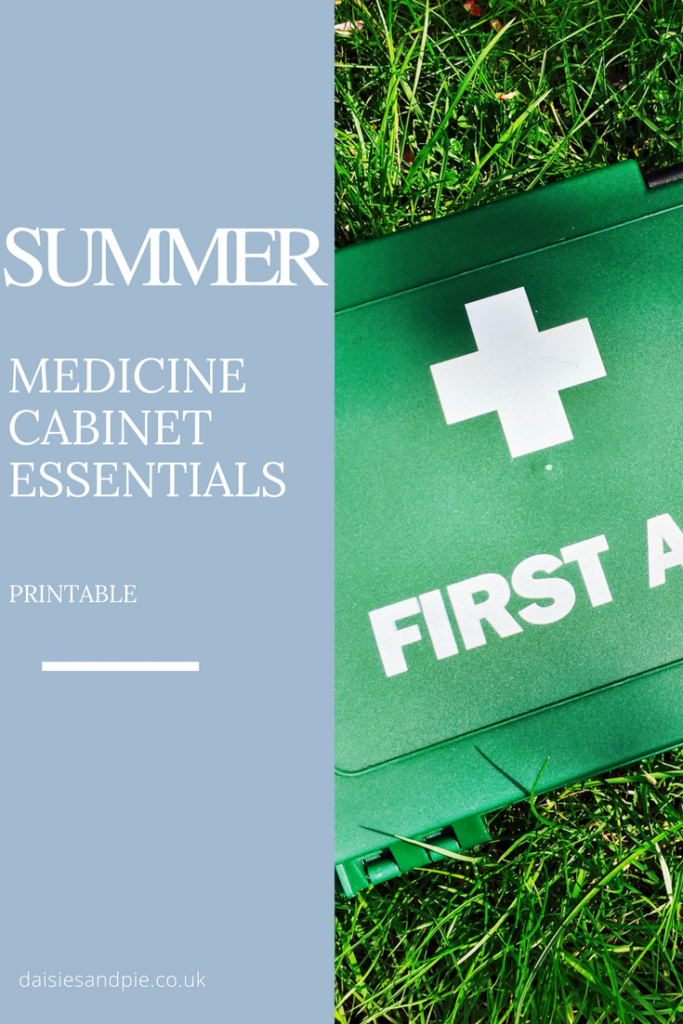 Summer medicine cabinet essentials