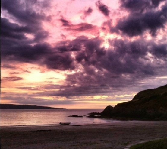 Dina's Island, Dinas Island cove, beaches in Wales, stunning welsh sunset