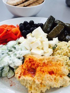 easy mezze, mezze platter, easy greek food, how to make a mezze, mezze recipes, easy family food from daisies and pie