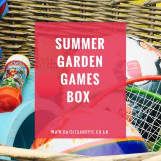 Make a summer garden games box, summer activities for kids