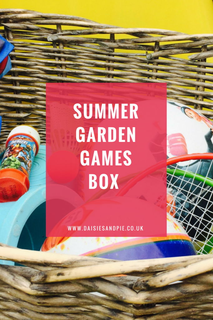 Make a summer garden games box, summer activities for kids