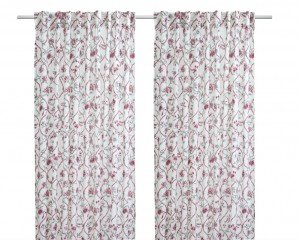 IKEA RUMSGRAN curtains, IKEA floral curtains, floral curtain ideas, home style from daisies and pie