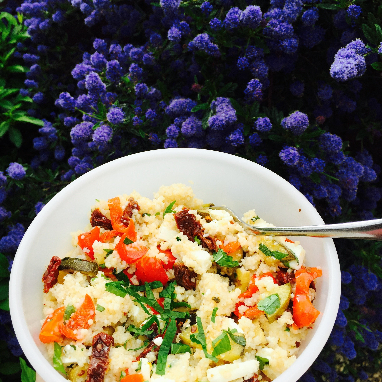 couscous salad recipe, vegetarian couscous recipe, feta and couscous ...