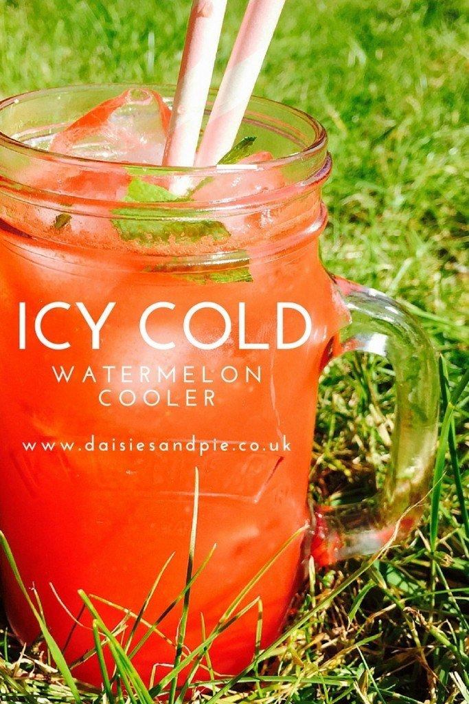 watermelon cooler, watermelon refresher, refreshing fruit lemonade, summer drinks