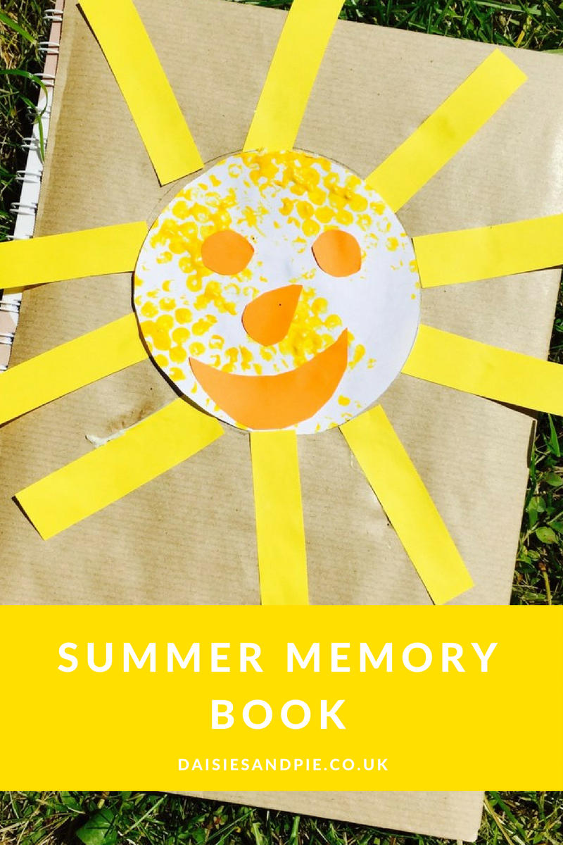 Create a summer memory book with the kids, fun summer activities for kids.