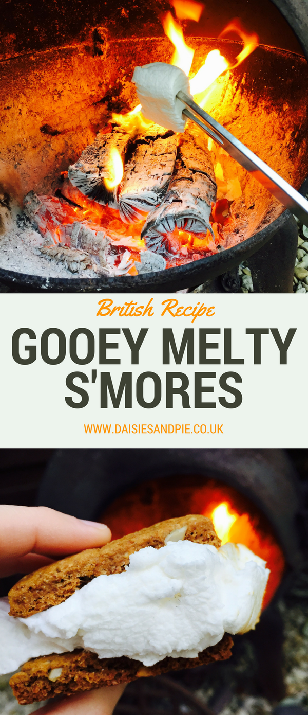 British recipe for s'mores, toasted marshmallows, camping recipes, summer dessert