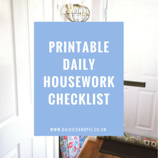 printable daily housework checklist, housework tips, homemaking tips