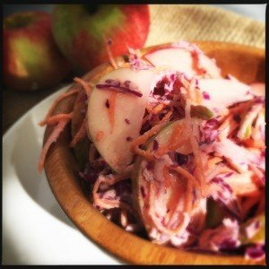 apple coleslaw recipe, how to make homemade coleslaw, easy slaw recipe, easy family food