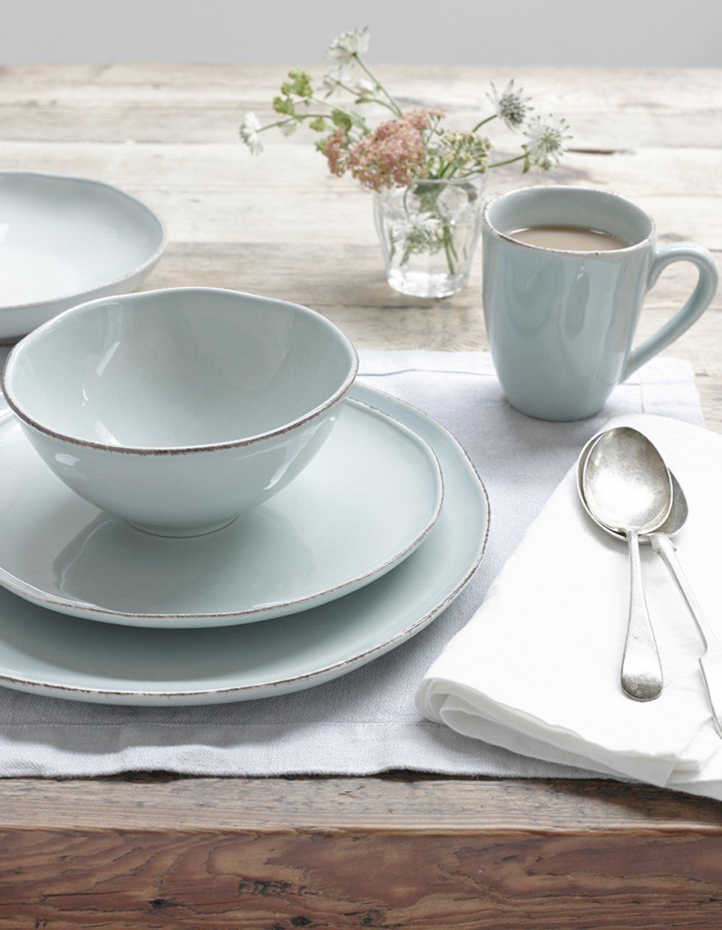 loaf wobbler ceramics, pale aqua crockery, homestyle from daisies and pie