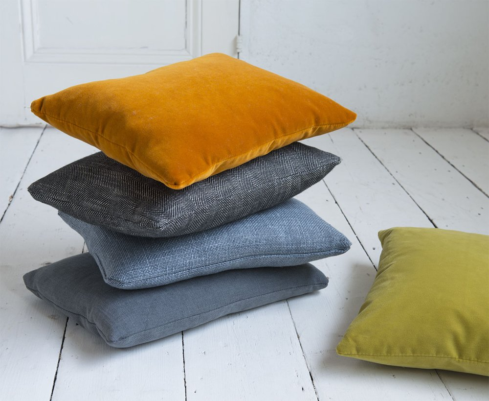 loaf scatter cushions, orange scatter cushions, grey scatter cushions, rectangular scatter cushions, home accessories, home from daisies and pie