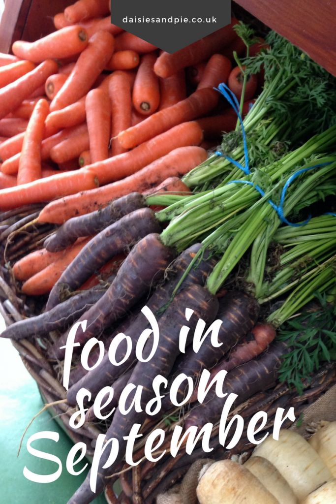 Seasonal Produce for September, What's in season during September, autumn recipes, autumn inspiration, easy family food
