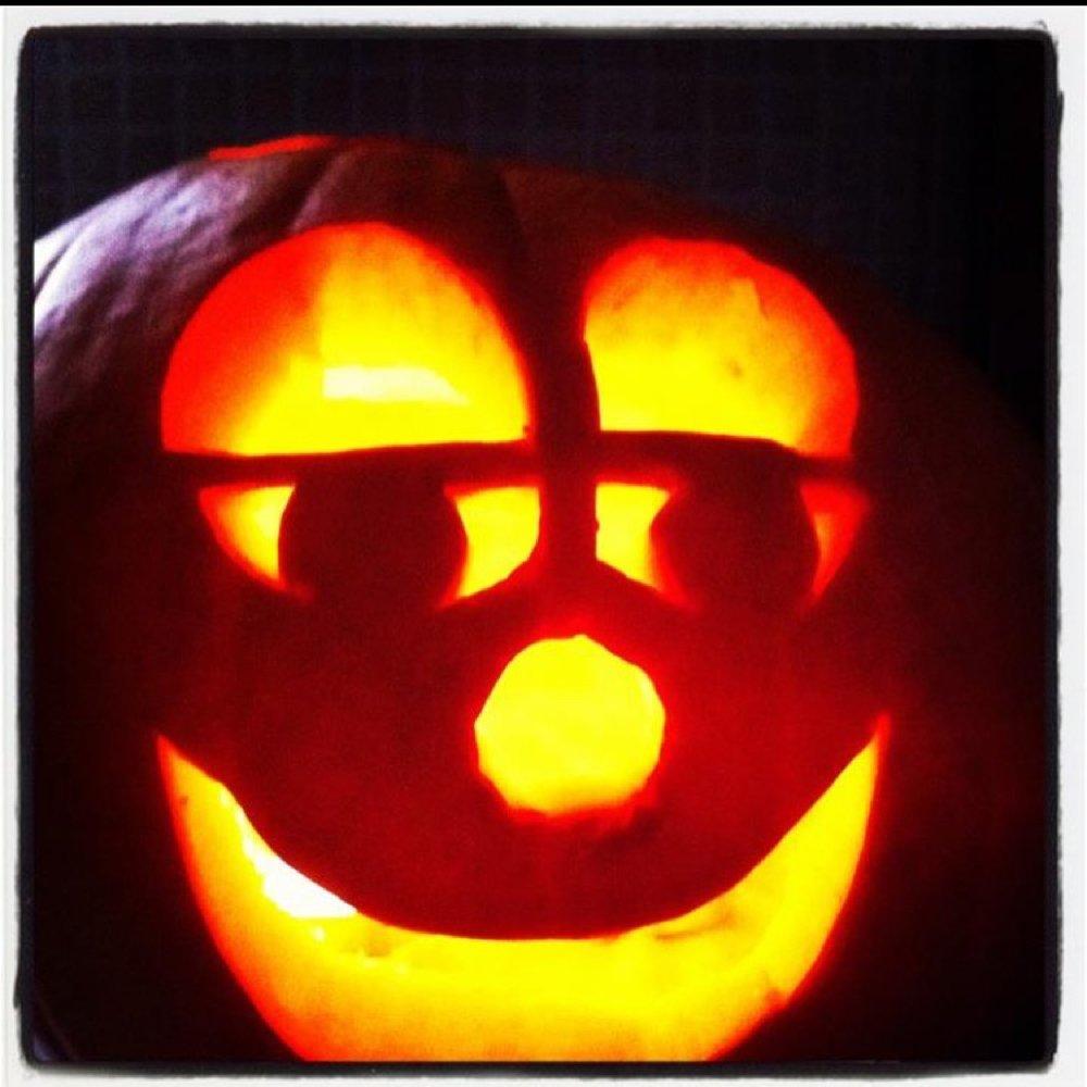 happy face carved pumpkin jack o lantern