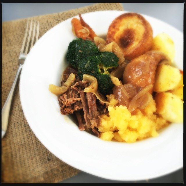 slow cooker brisket recipe, how to cook brisket, pot roast sunday dinner, brisket in gravy, easy family food from daisies and pie
