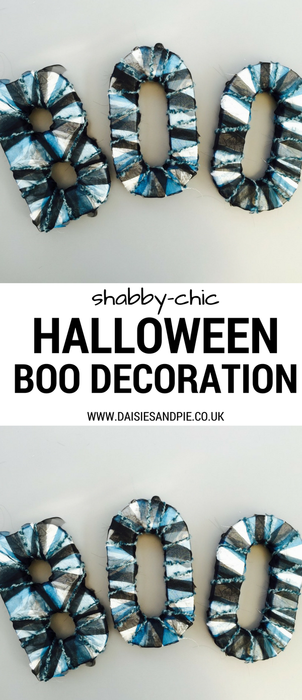 How to make a shabby chic 3D BOO decoration for Halloween, Halloween decorations, halloween party inspiration