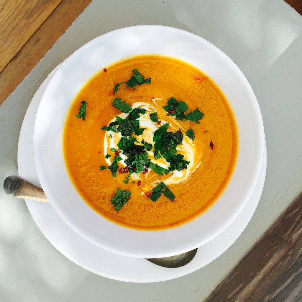 moroccan spiced roast vegetable soup, autumn soup recipes, butternut ...