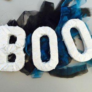 boo halloween decoration, shabby chic halloween decoration, stylish halloween decoration, halloween crafts