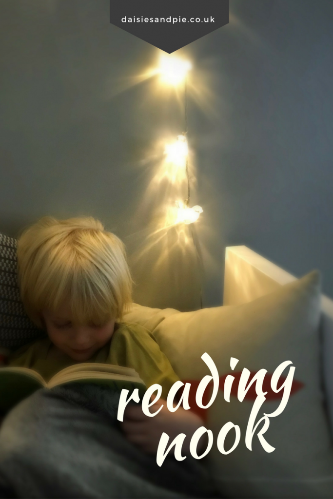 How to make a cosy reading nook, create a snuggly cosy space for kids to read in, family home ideas