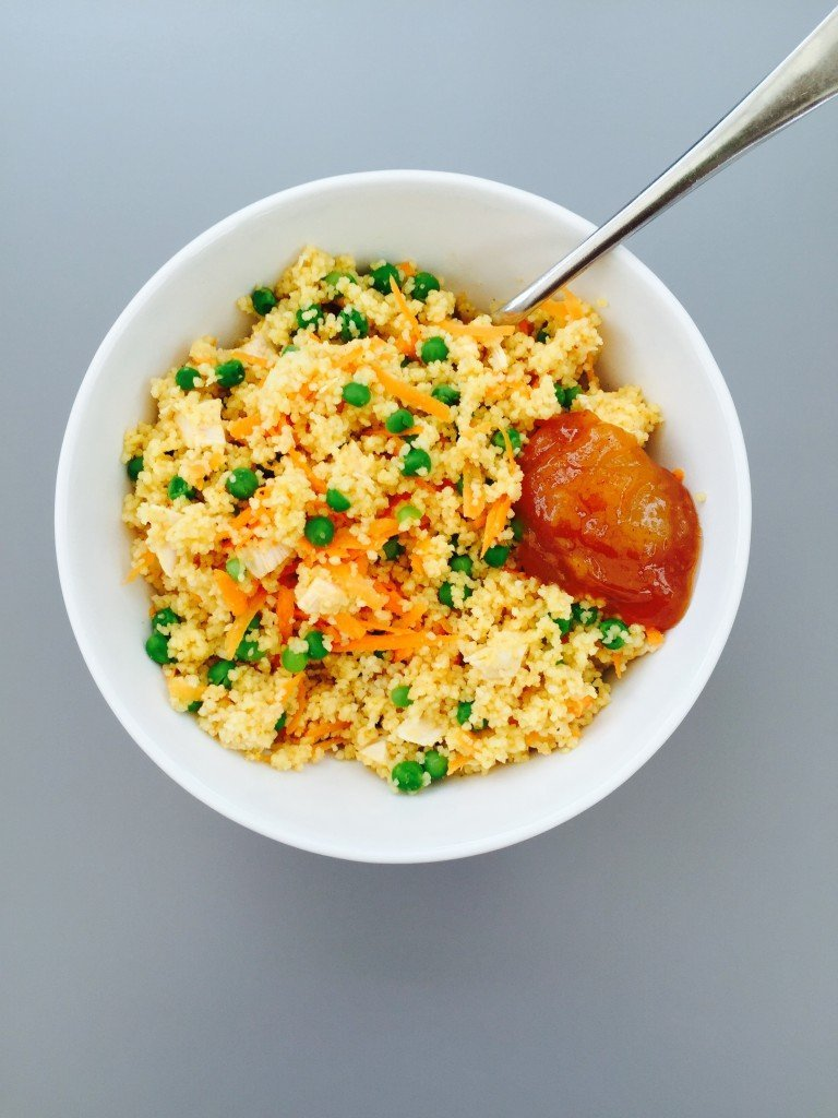 spicy chicken couscous recipe, spicy couscous salad, how to make spicy couscous, what can I make with leftover chicken, take to work lunch, easy family food from daisies and pie