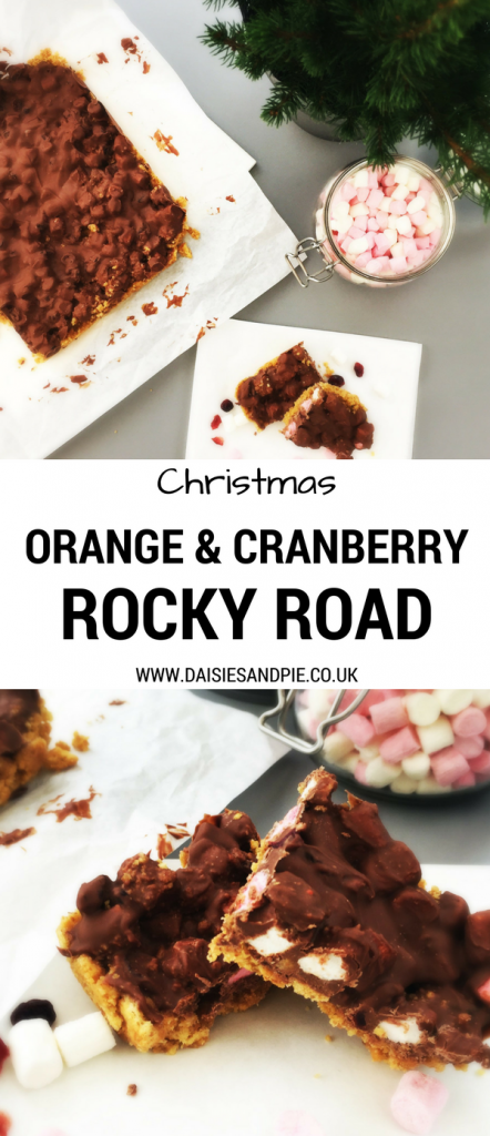 Delicious festive rocky road recipe - our orange and cranberry rocky roads are perfect for making as DIY Christmas gifts or serving at Christmas parties
