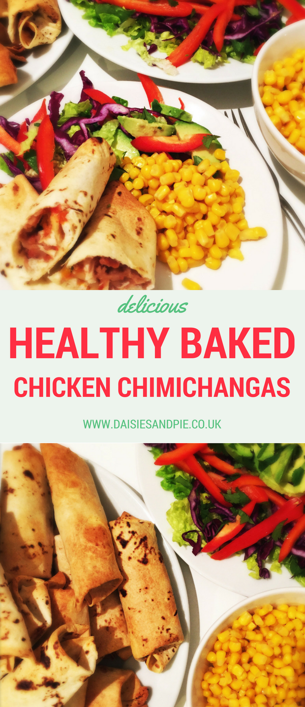 Healthy baked chicken chimichangas recipe, quick family dinner, healthy chicken recipe