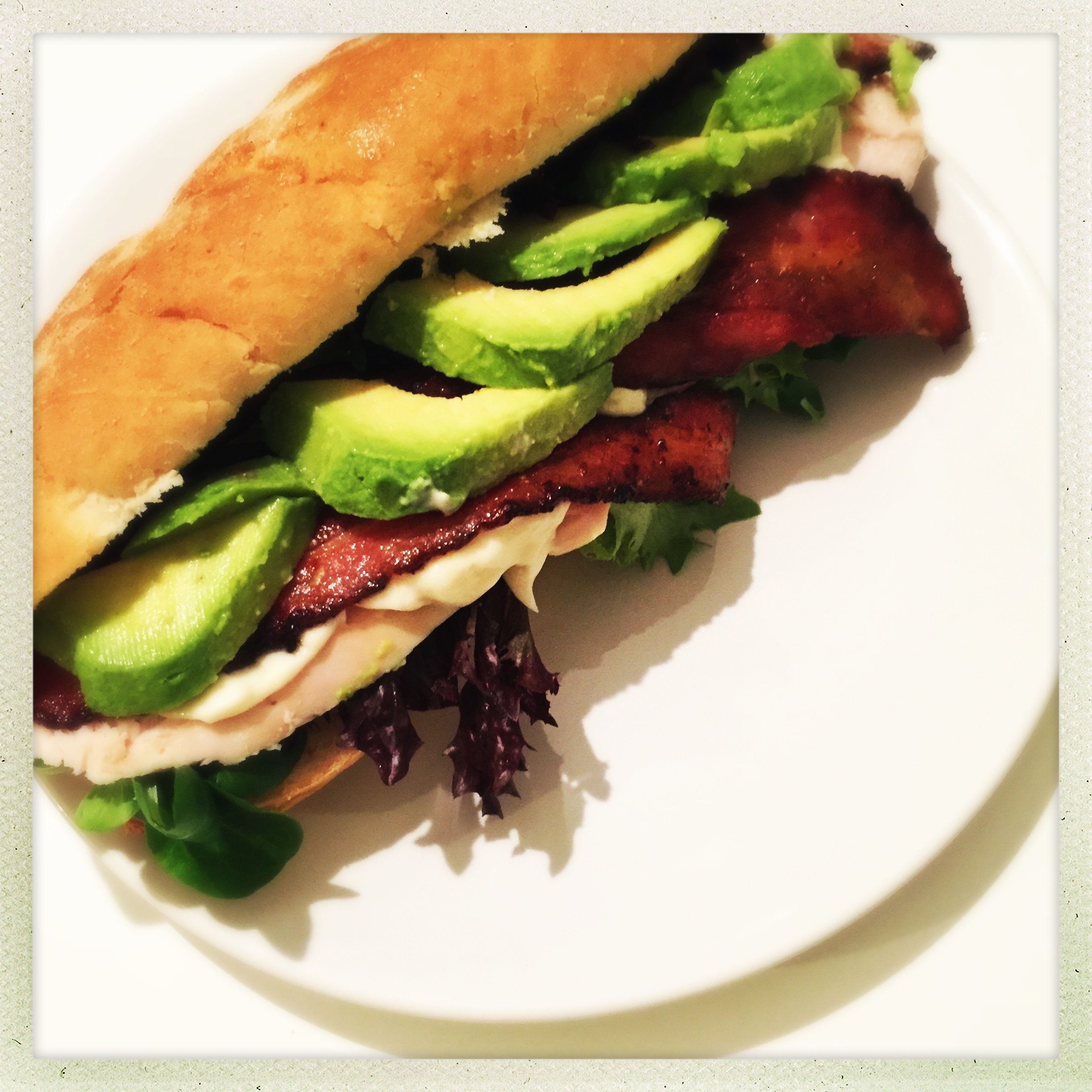 chicken and bacon sub recipe, chicken and bacon sandwich recipe, easy family food from daisies and pie