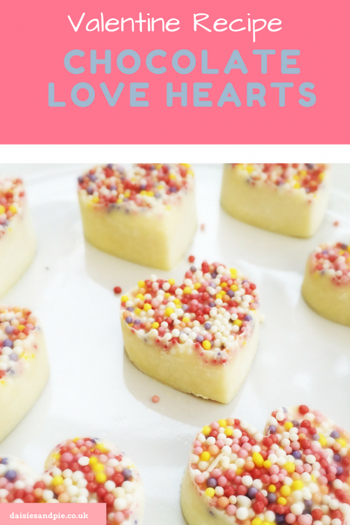 Valentine's Day recipe - white chocolate love hearts