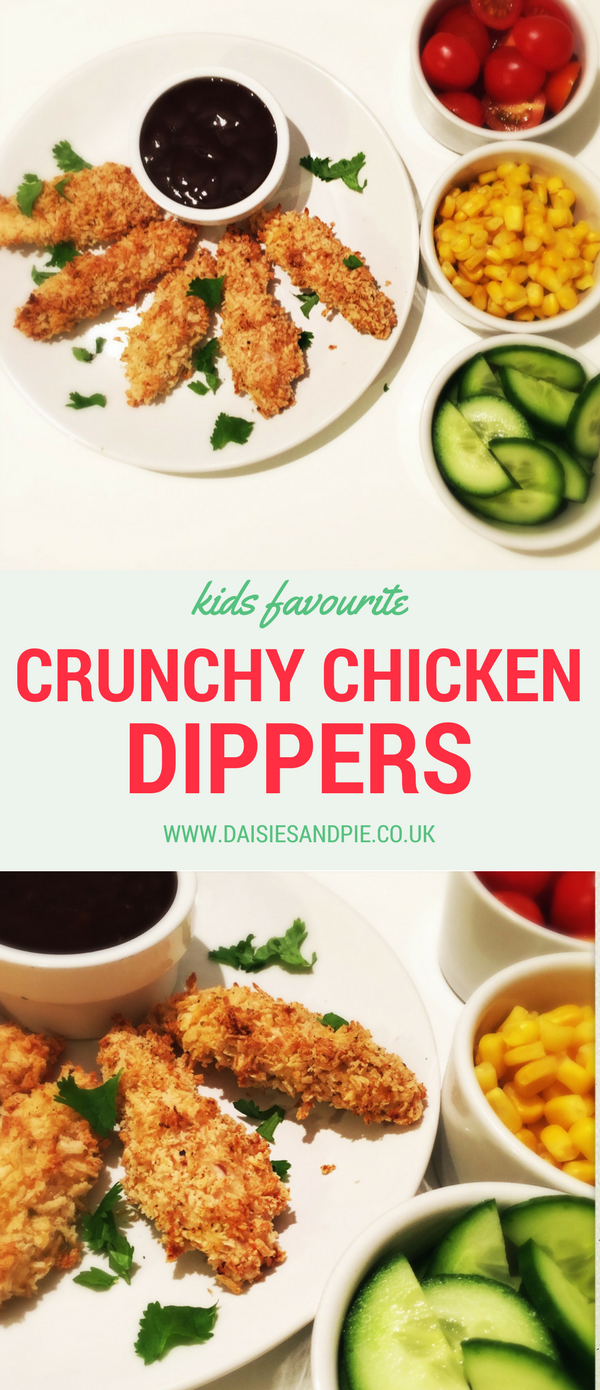 Kids favourite homemade crunchy chicken dippers, easy chicken nugget recipe, kids dinner recipes