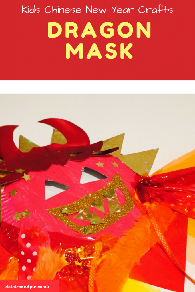 Chinese New Year dragon mask craft for kids