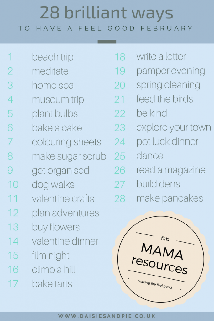 Brilliant ideas for feeling good, mama resources, wellbeing tips