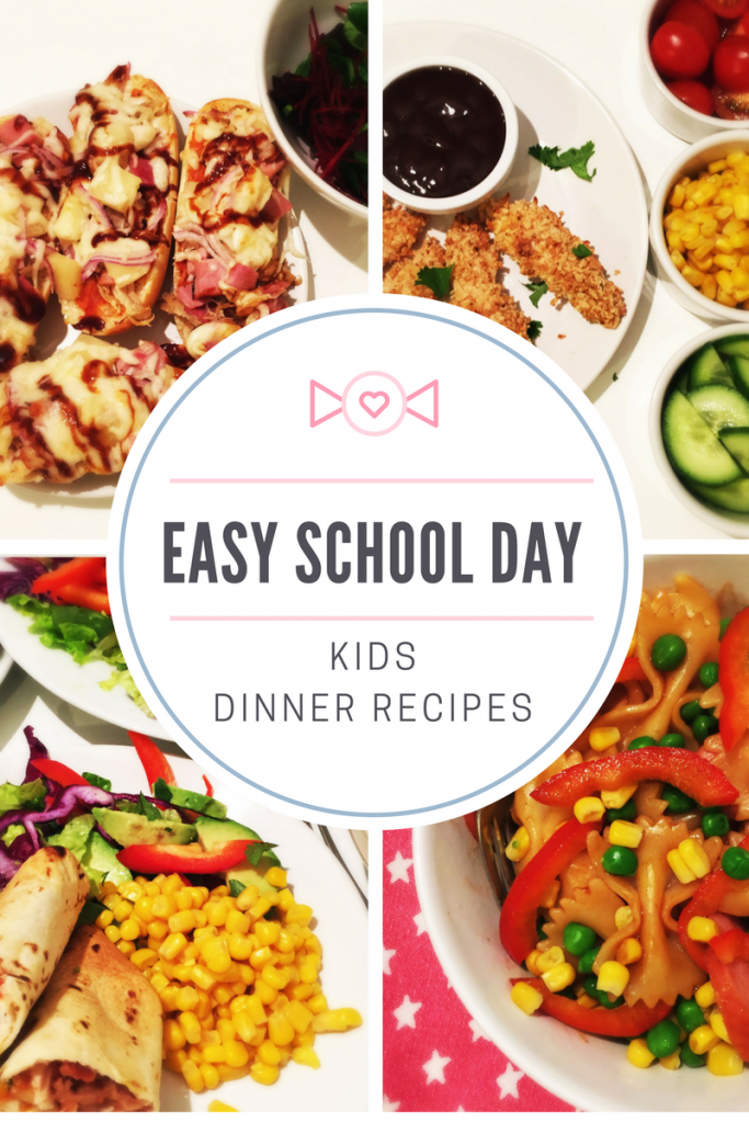 A week of easy school day dinner ideas, kids dinner recipes, quick kids dinner ideas, easy family dinner recipes,