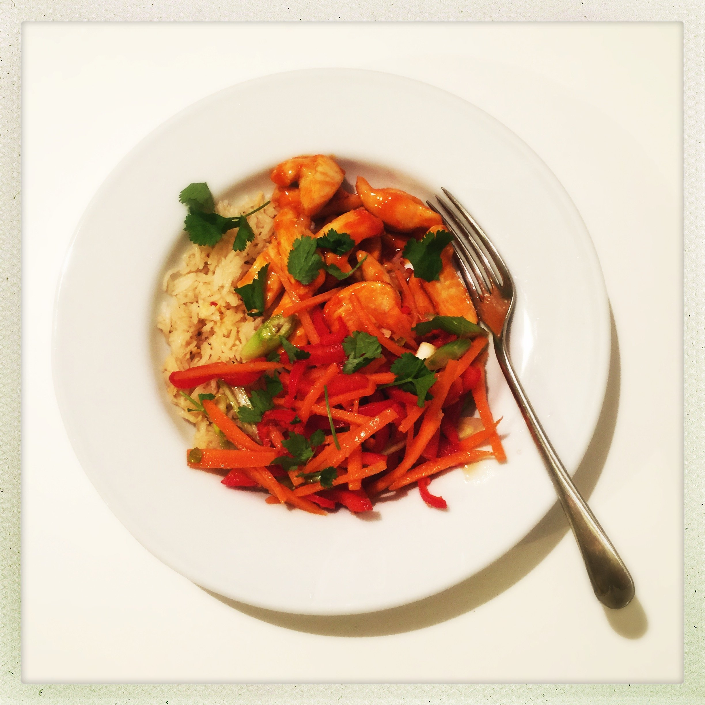 Quick and easy sweet chilli chicken