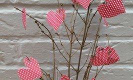 paper love heart tree, valentine crafts for kids