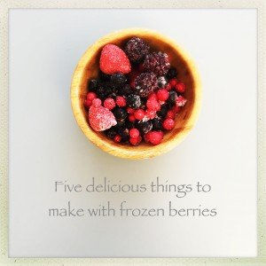 frozen berry recipes, things to make with frozen berries, berry compote recipe, berry smoothie recipe, easy family food from daisies and pie