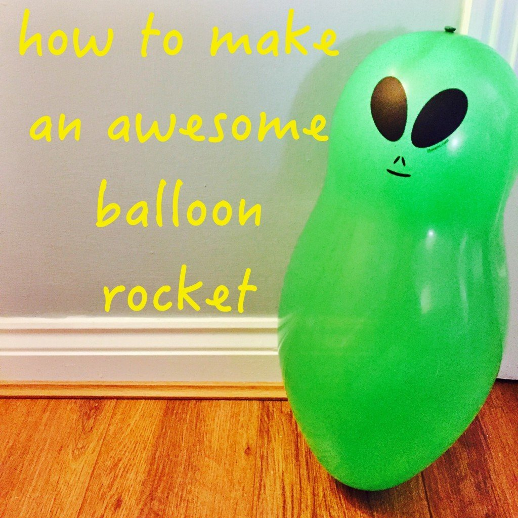how to make balloon rockets, balloon activity for kids, balloon races, kids activities from daisies and pie
