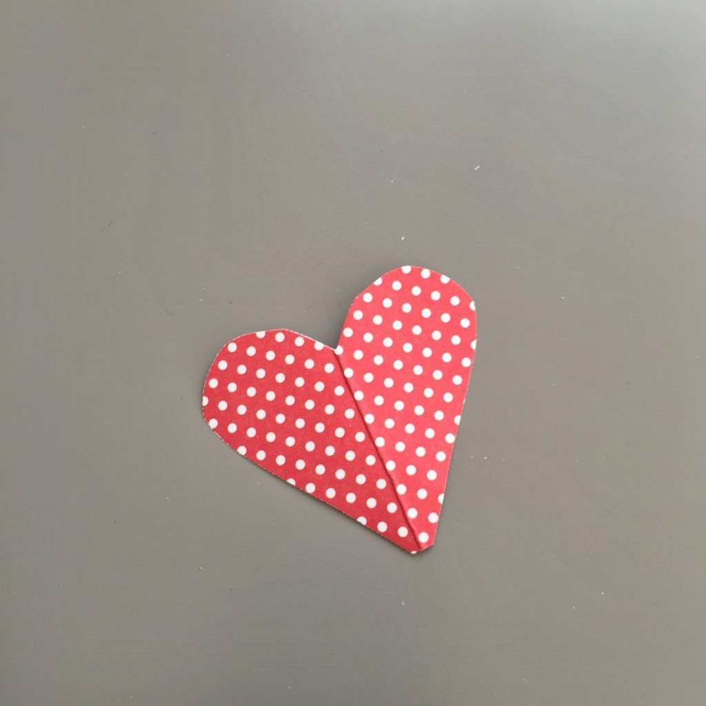 paper love hearts cut from pretty paper