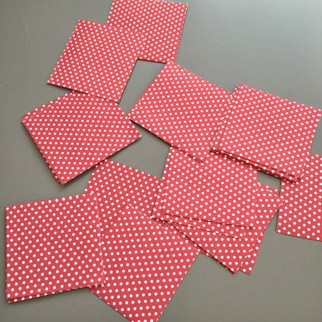 pretty paper cut into squares
