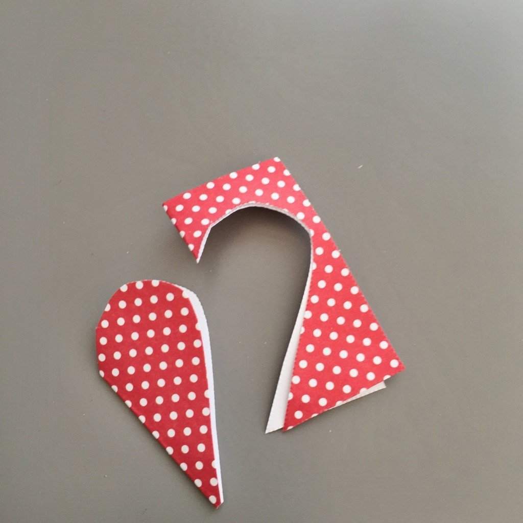 love heart shape cut out of paper squares