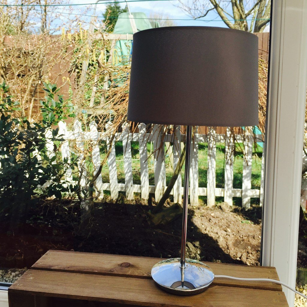 Next grey lamp, homewares from Next, Next table lamp, home style from daisies and pie