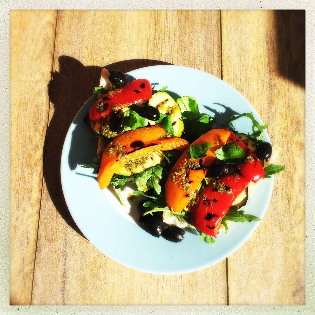 Grilled Tofu Stacks With Pesto & Grilled Vegetables Recipe ...