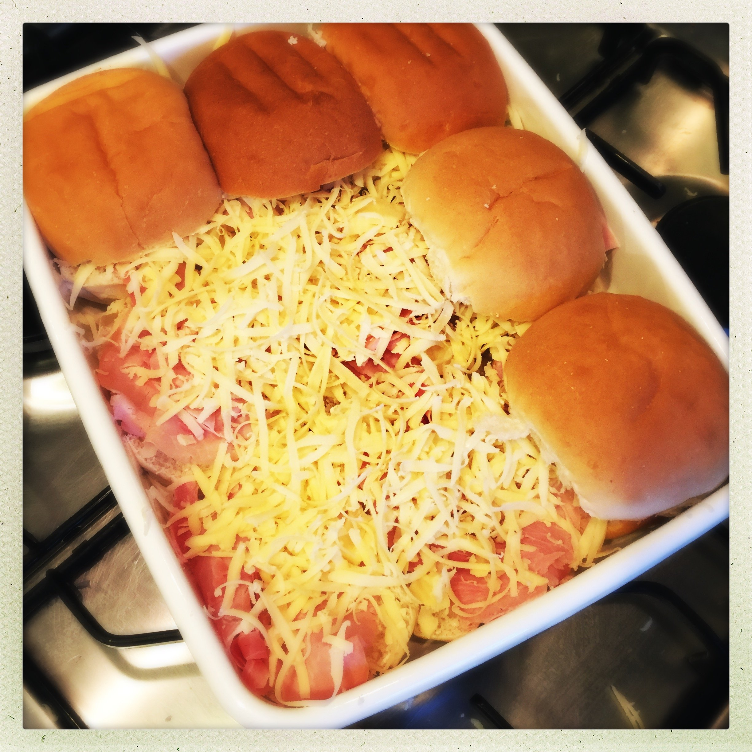 ham and cheese sliders recipe, oven baked ham and cheese rolls, quick ...