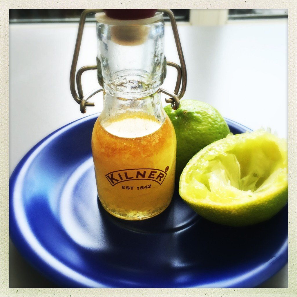 lime and ginger salad dressing, tangy salad dressing recipe, zesty dressing for chicken or fish, easy family food from daisies and pie