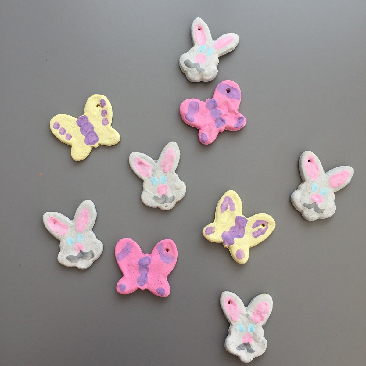 easter bunny craft for kids, salt dough ornaments, salt dough recipe, easter decorations for kids, easter crafts for kids, spring crafts for kids