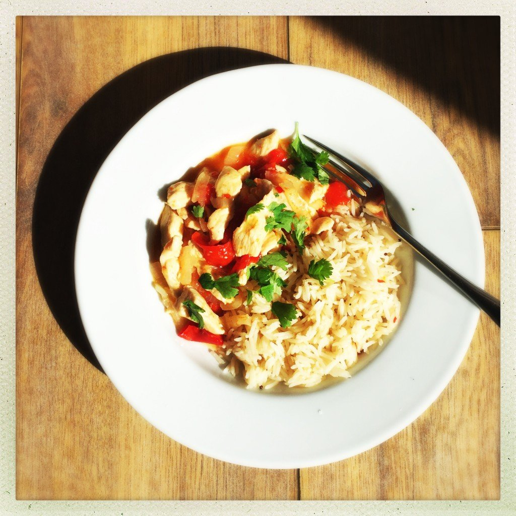 sweet chilli chicken recipe, tefal cook4me review, easy family food from daisies and pie