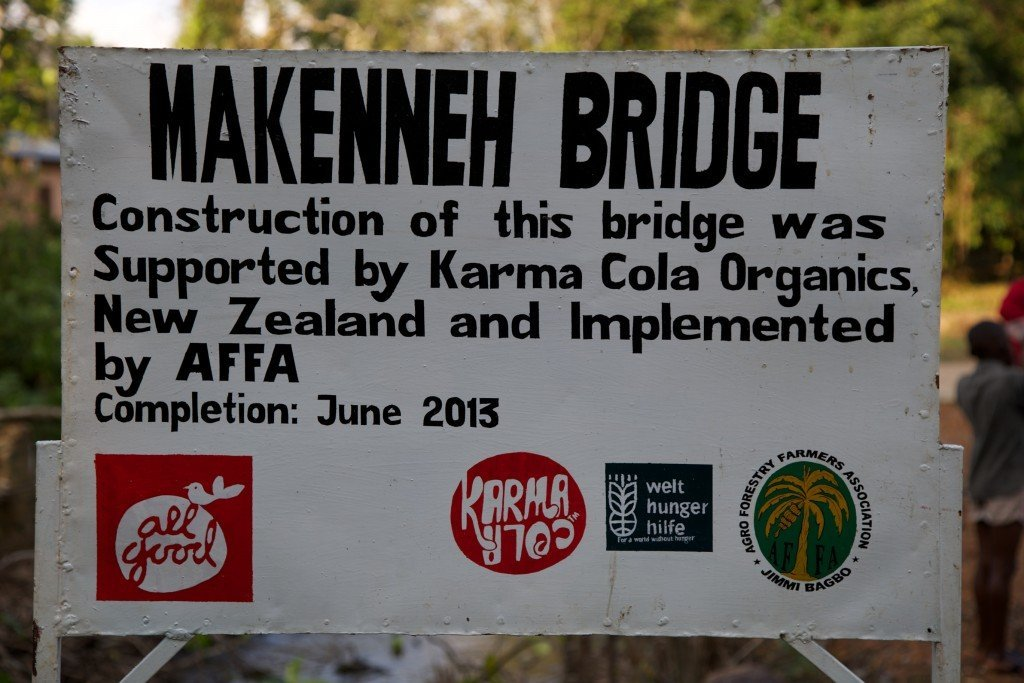 Makenneh Bridge, Boma Africa, The Karma Cola Foundation, Karma Cola, Organic Fairtrade fizzy drinks,