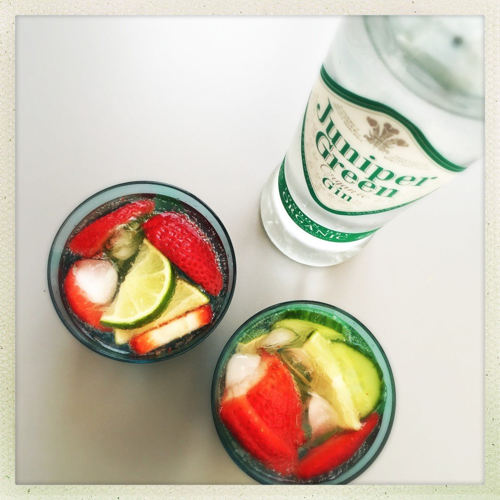 summer gin and tonic, summer g&t, gin with fruit, summer cocktail recipes, how to serve gin, juniper green organic london dry gin