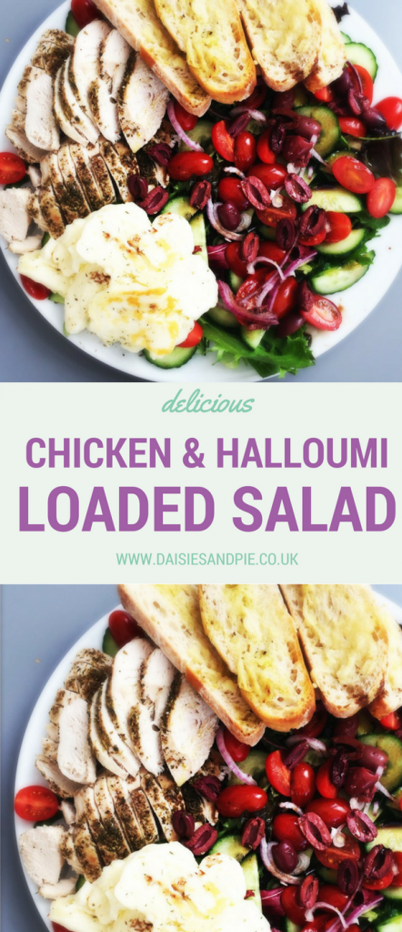 Delicious summer salad recipe, our chicken and halloumi salad is loaded with flavour, perfect summer dinner idea